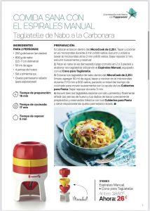 Espìrales Manual+Cono para Tagiatelle